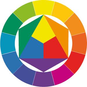 kruh barev a kontrastů