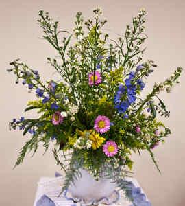 Správná váza pro luční kytici